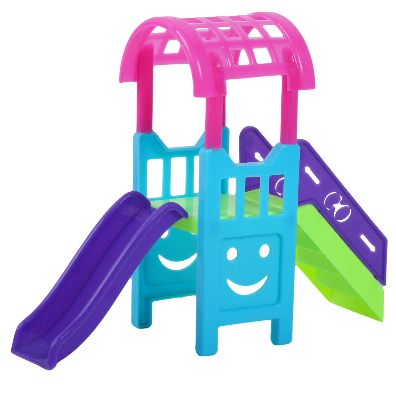 1 Set Doll Accessories Slide Amusement Park for Kelly Doll 1/12 Size Doll Furniture Kindergarten Slide Swing Play House DIY Toy