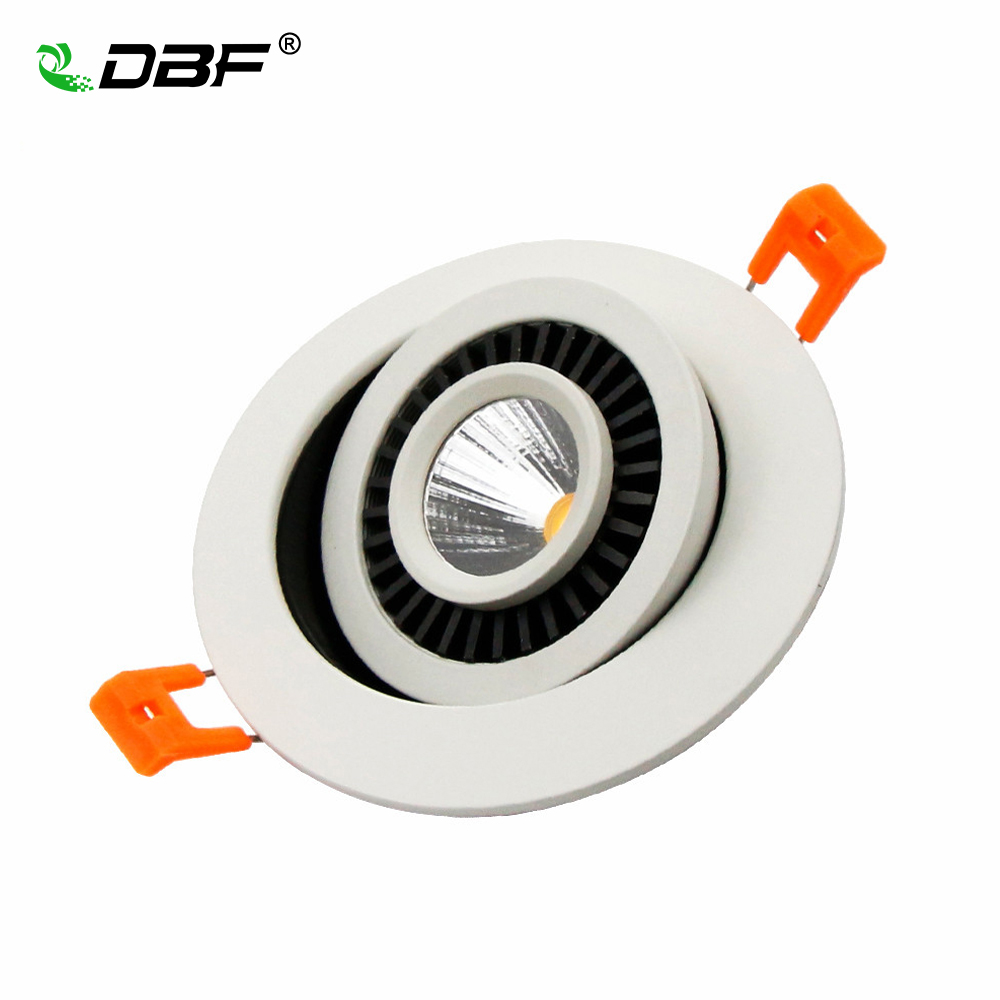 [DBF]High Quality Epistar LED COB Recessed Downlight Dimmable 5W 7W 9W LED Spot Lamp Dimming Ceiling Lamp Home Decor AC110V/220V surface mount led cob downlight dimmable 7w 10w 15w dimming cob led spot light led ceiling lamp ac110v 240v