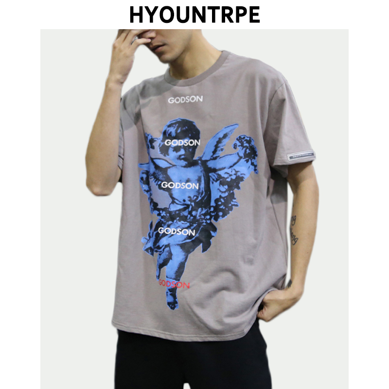 Short Sleeve Hooded Camo Hip Hop T Shirt Men