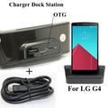 1 unids usb dock station cargador data sync cuna docking soporte + ranura de carga de la batería extra para lg g4