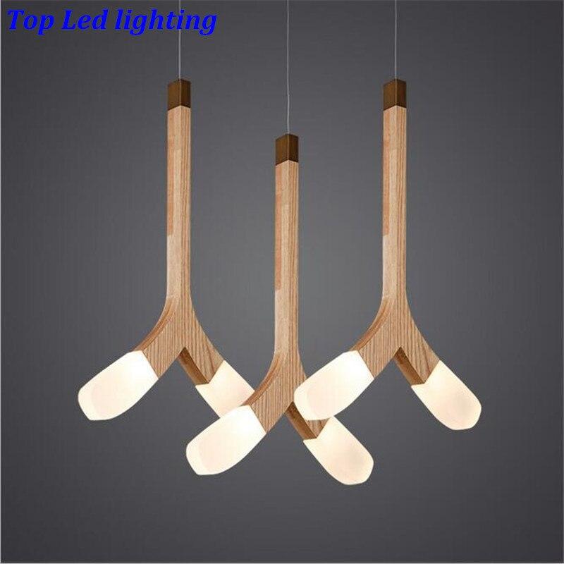 Modern HOT Handmade Ash Wood Led Pendant Light for Dining Room Living Room Restaurant AC 80-265V 1/3 heads 1220 ash ash vanna fw14 v 72055 001
