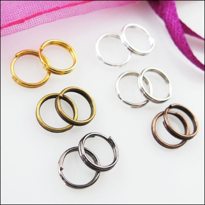 Pcs Findings Jewellery Iron Round Split Rings Antique Bronze 0.7 x 10mm  150