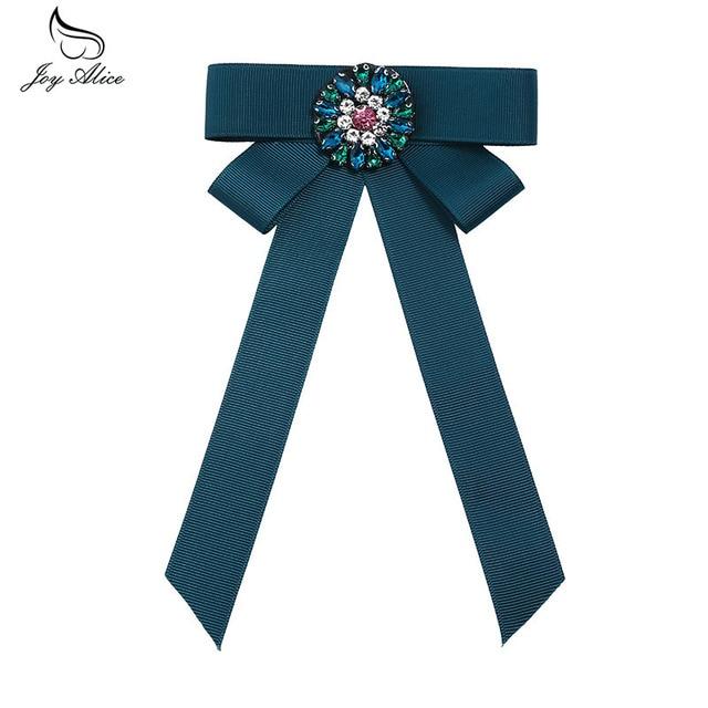 Винтаж галстук-бабочка в полоску с бантом броши Британский воротник рубашки Для женщин аксессуары оккупации цветок блузка для девочек с бантом