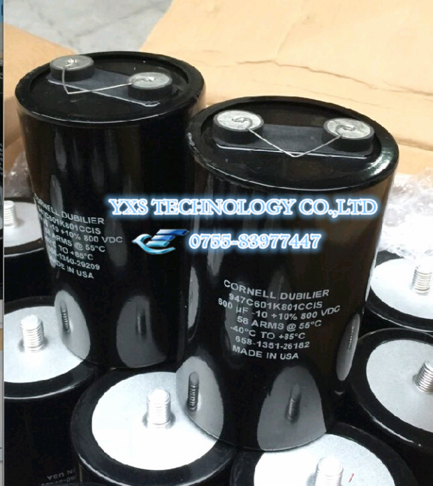 ФОТО USA CDE 600UF 800V  DC support  PV filter capacitor Large current film capacitors 90*145MM 80A In stock~