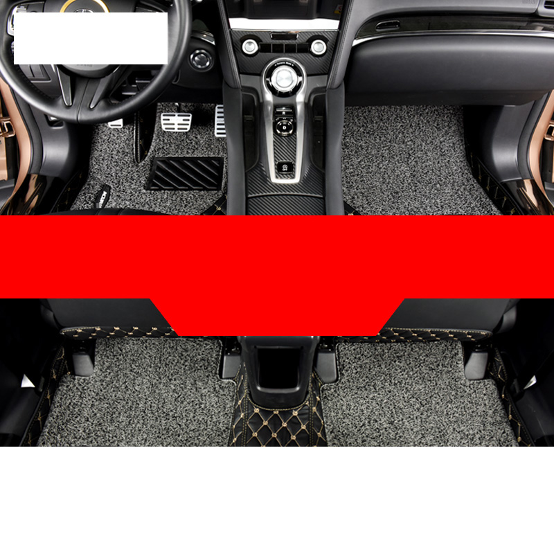 Lsrtw2017 PET Fiber Polyester Car Anti-slip Foot Mat for Acura CDX 2017 2018 2019 2020