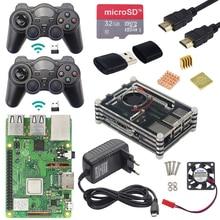 Raspberry Pi 3 Modell B Plus Gaming kit + Wireless Game Controller + Fall + Power + 32G SD karte + HDMI Kabel + Kühlkörper für Retropie 3B Plus