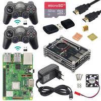 Raspberry Pi 3 modèle B Plus kit de jeu + contrôleur de jeu sans fil + boîtier + puissance + carte SD 32G + câble HDMI + dissipateur de chaleur pour Retropie 3B Plus