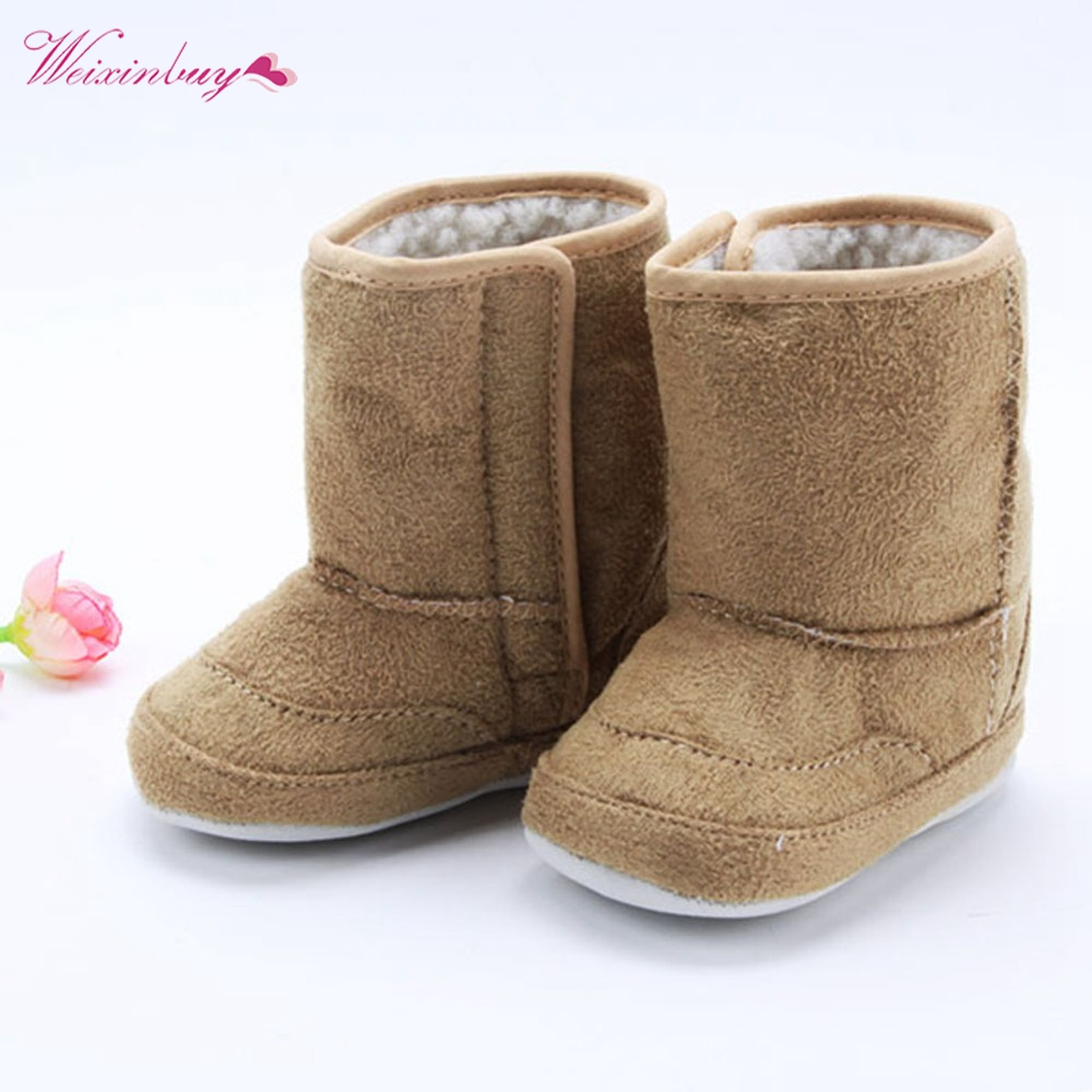 Warm Winter Baby Ankle Snow Boots Infant Shoes Antiskid Baby Shoes First Walker