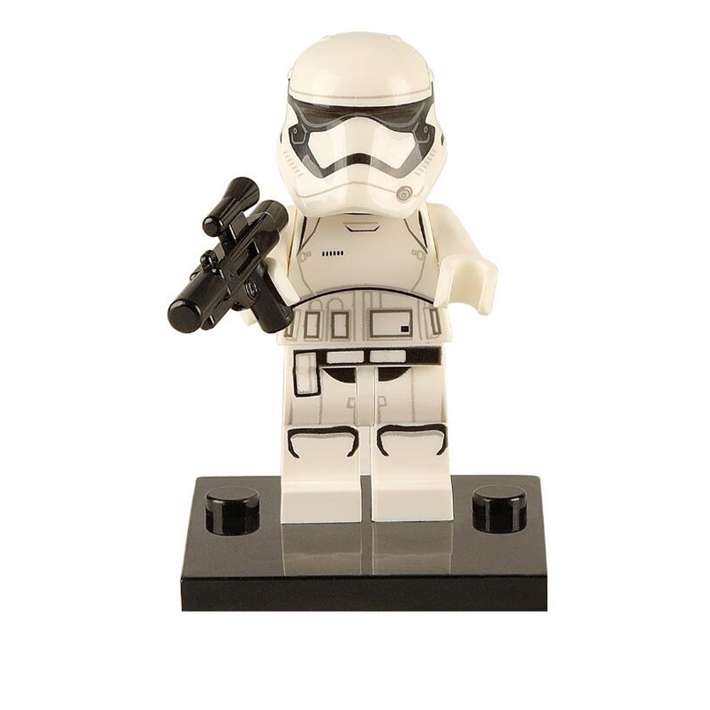 Single star wars Figure The Last Jedi Imperial Army Military Clone Trooper Stormtrooper building blocks toys for child X0103-151 ...
