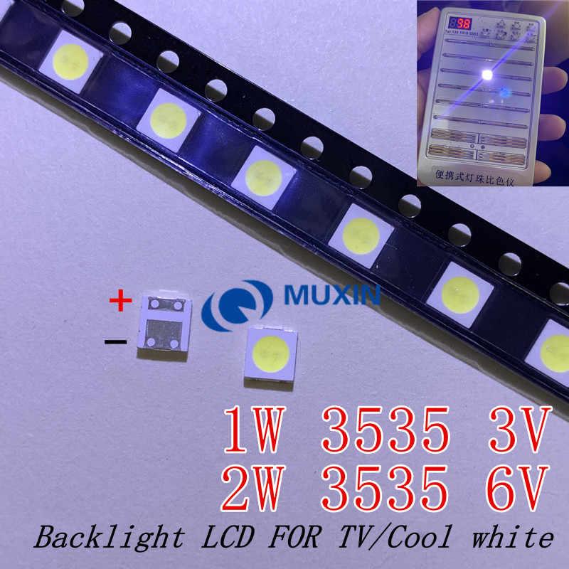 50-100pcs מקורי עבור LG LED LED 2W 6 V/1 W 3V 3535 מגניב קר לבן LCD תאורה אחורית עבור טלוויזיה