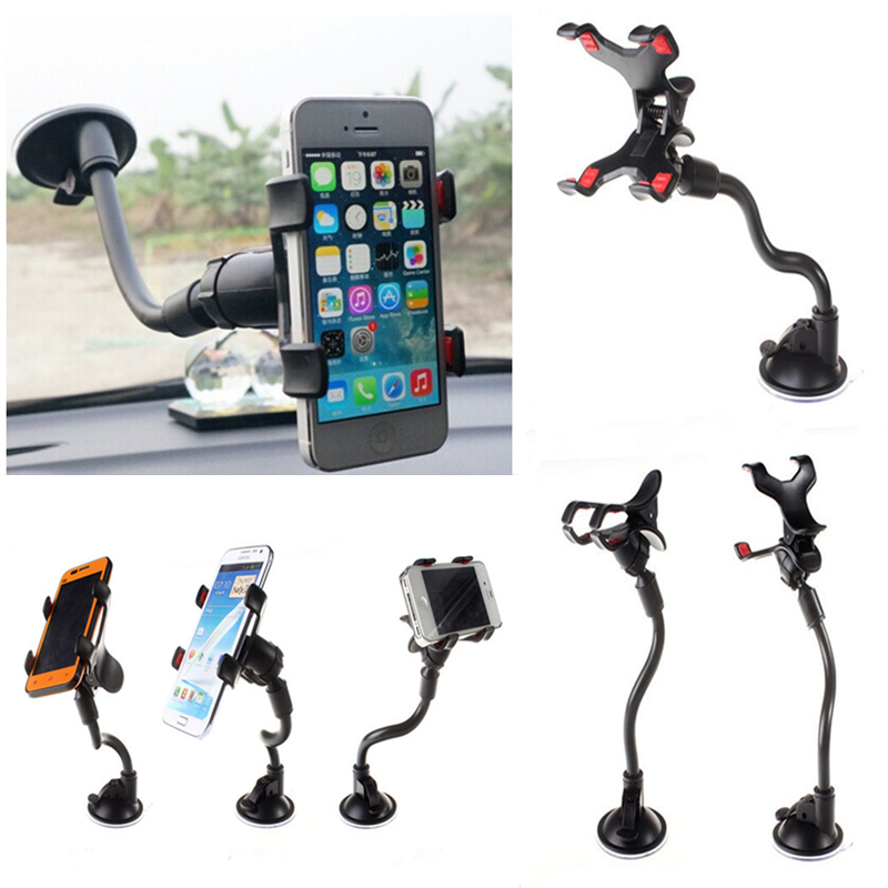 Nuevo socket Universal Car Holder Cell Phone Holder para Iphone 6 6s plus SE Soporte Soporte para Samsung Flexible Mobile Phone Holder