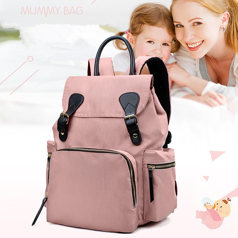 Maternal and Child Travel Backpack Portable Mobile Fashion Mother Bag New Korean Version Mummy Bag Multi-Function Large CapacityMaternal and Child Travel Backpac012