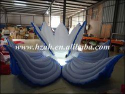 الزهرة الزرقاء نفخ مع الصمام الخفيفة للديكور الزفاف