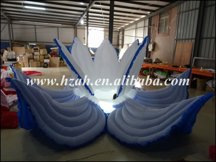 Blue Inflatable Flower With LED Light For Wedding Decoration