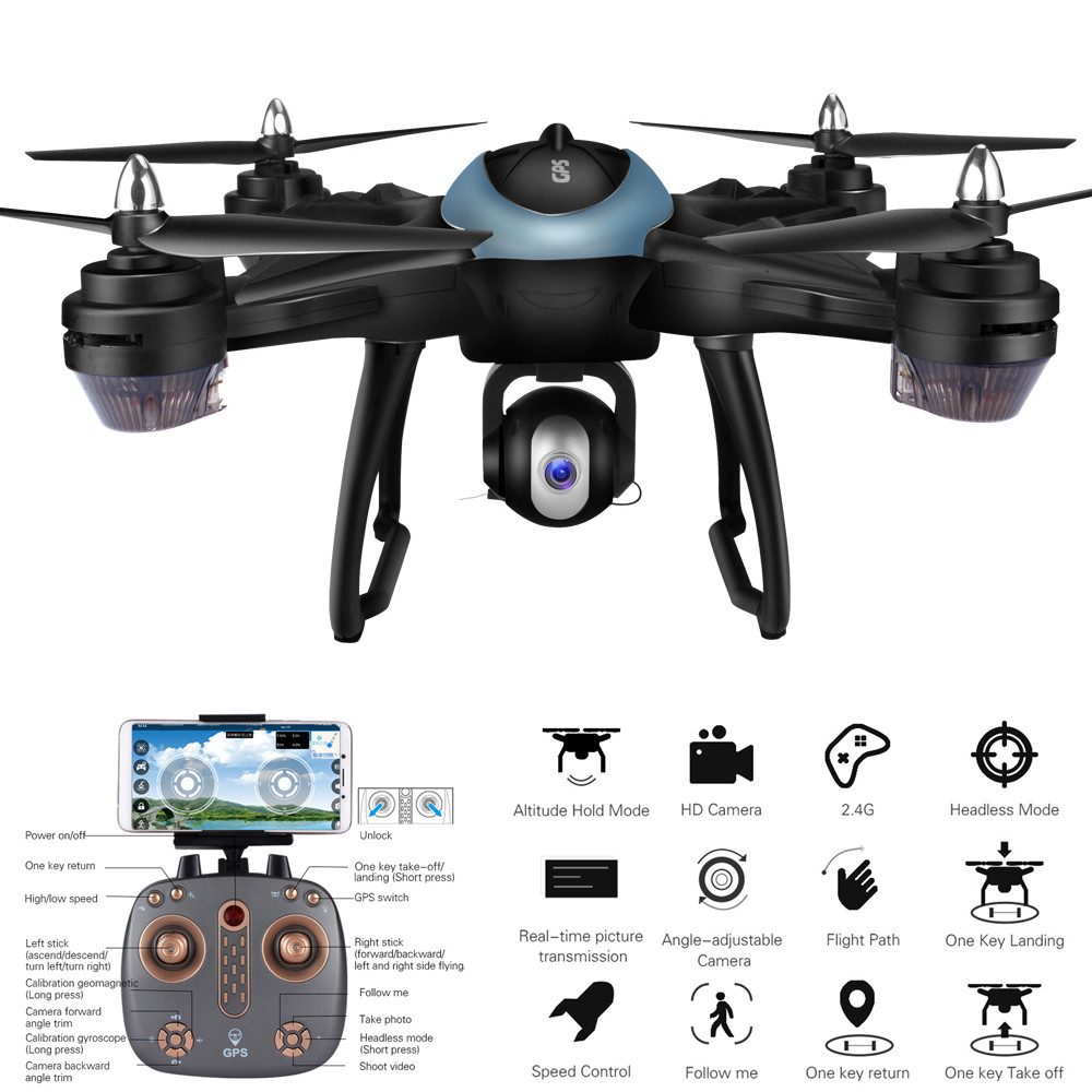 RC Quadcopter Drone With Wide Angle HD Camera LH-X38G Dual GPS FPV Drone Quadcopter With 1080P HD Camera Wifi Headless Mode genuine original xiaomi mi drone 4k version hd camera app rc fpv quadcopter camera drone spare parts main body accessories accs