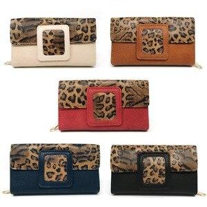 Image 5 - AFKOMST ヒョウの女性の財布ロング高級固体コイン財布クレジットカードホルダー高品質クラッチマネーバッグウォル VKP1524