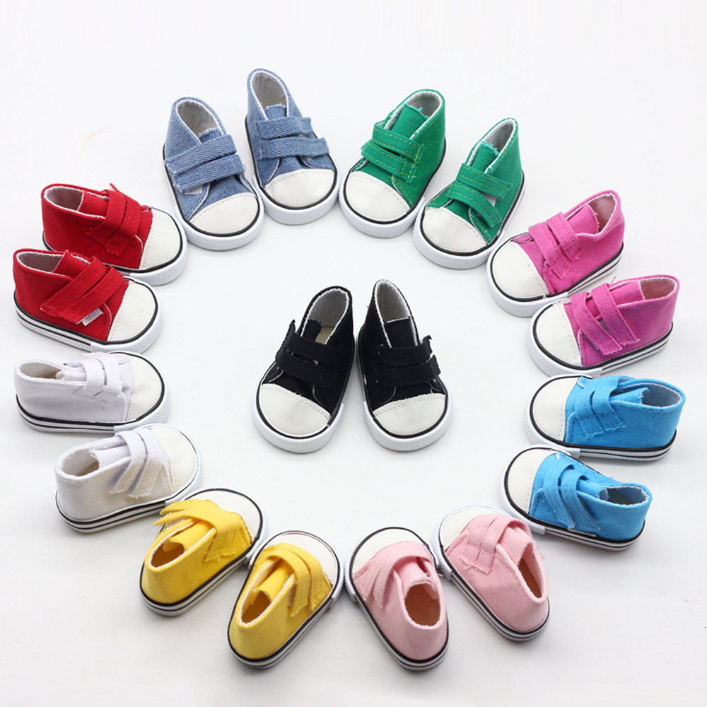 Best Sale1 Pair 7cm Canvas Shoes For BJD Doll Fashion Mini Shoes Doll Shoes For Russian DIY Handmade Doll Doll Accessories