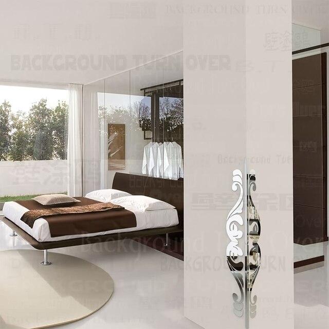US $9.97 44% di SCONTO|Creativo FAI DA TE retro modello in metallo acrilico  bordo & guardie corner angolo di protezione 3d specchio della casa della ...
