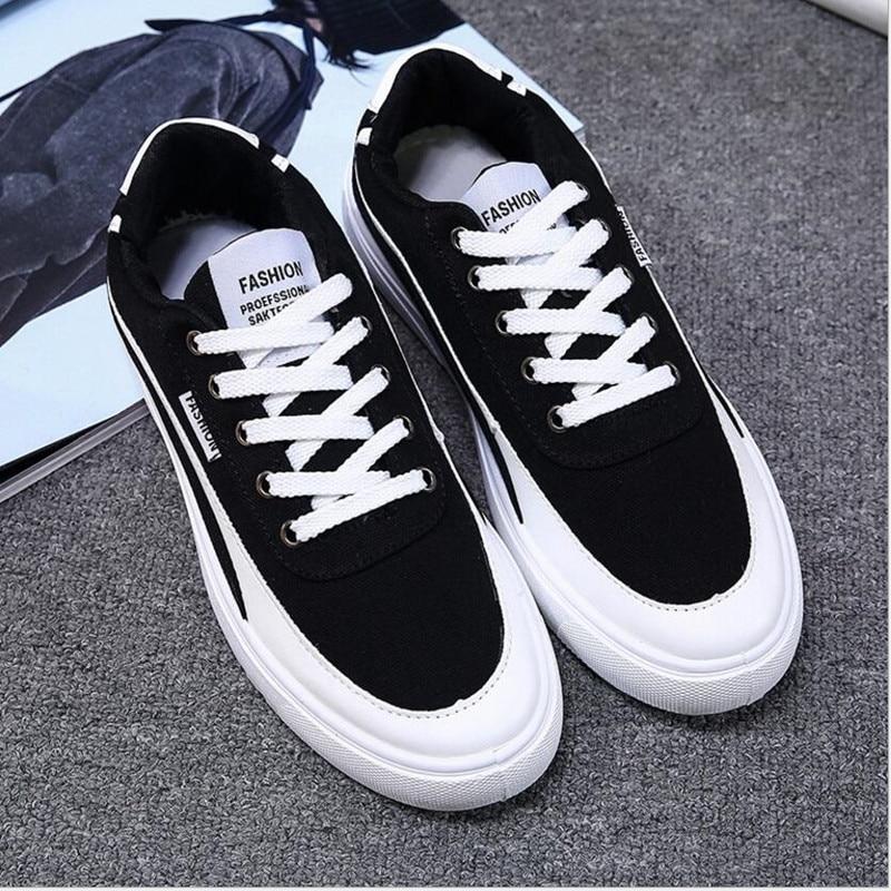새 도착 사계절 컴포트 캐주얼 신발 남자 캔버스 - 남성용 신발 - 사진 2