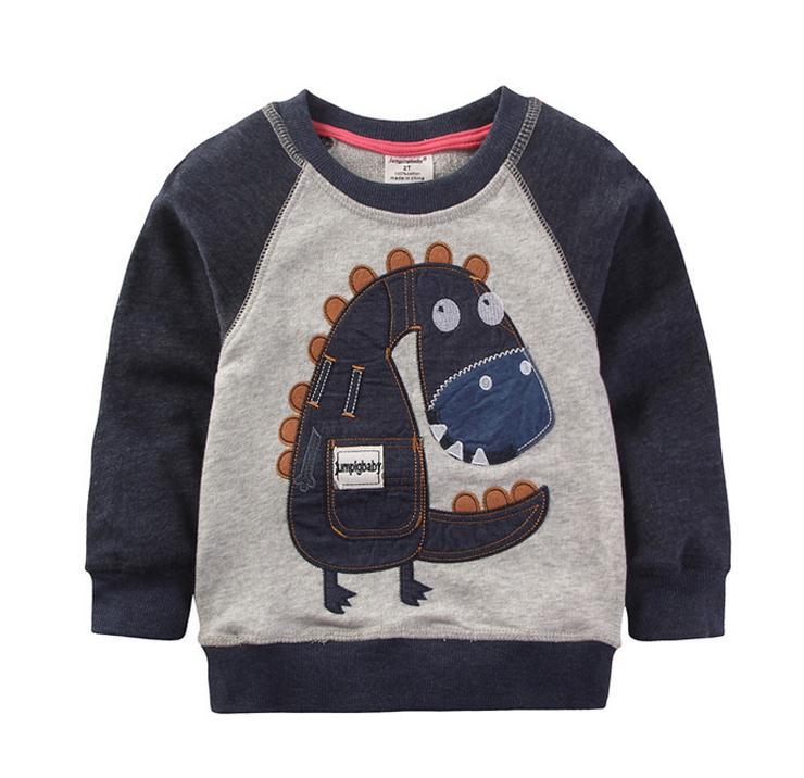 2017 New arrivals Boy's Cotton Sweaters Brand Baby Boys Clothing Children Kids Clothes Boys girls dinosaur Sweatshirt t shirts