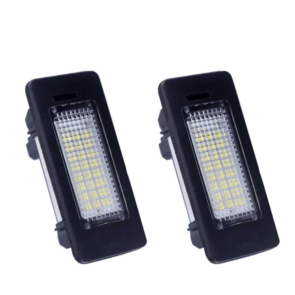 2PCS 24 SMD 2835 car led license plate light For BMW E90 E82 E92 E93 M3 E39 E60 E70 X5 E39 E60 E61 M5 E88