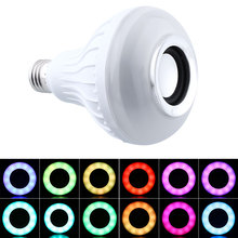 Wireless E27 Bluetooth Remote Control Mini Smart LED Audio Speaker RGB Color Warm White Bulb Music Lamp
