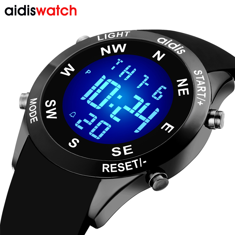 Brand Men s fashion casual sports watches waterproof LED Digital electronic silicone watch men kids clock