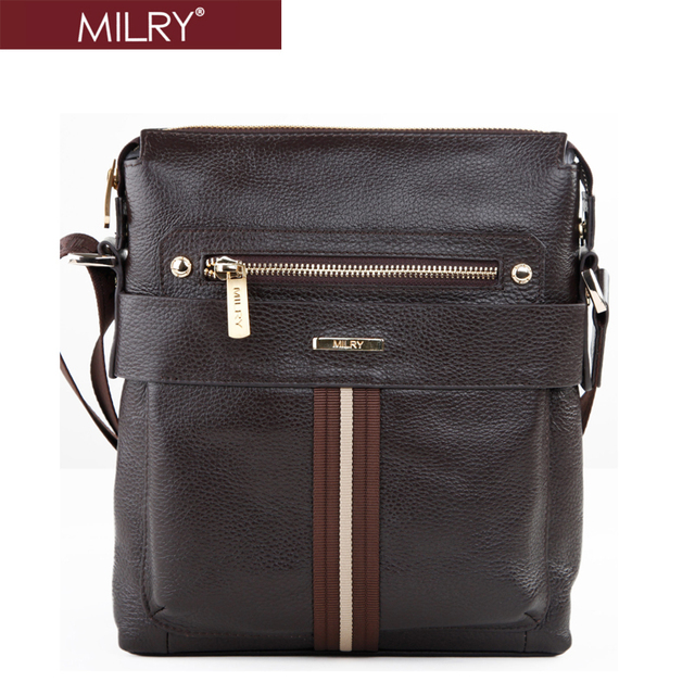 2013 Fashion Brand New 100% Genuine Leather Business men shoulder bag casual Messenger Bags Free Shipping gift for men CS0002-2