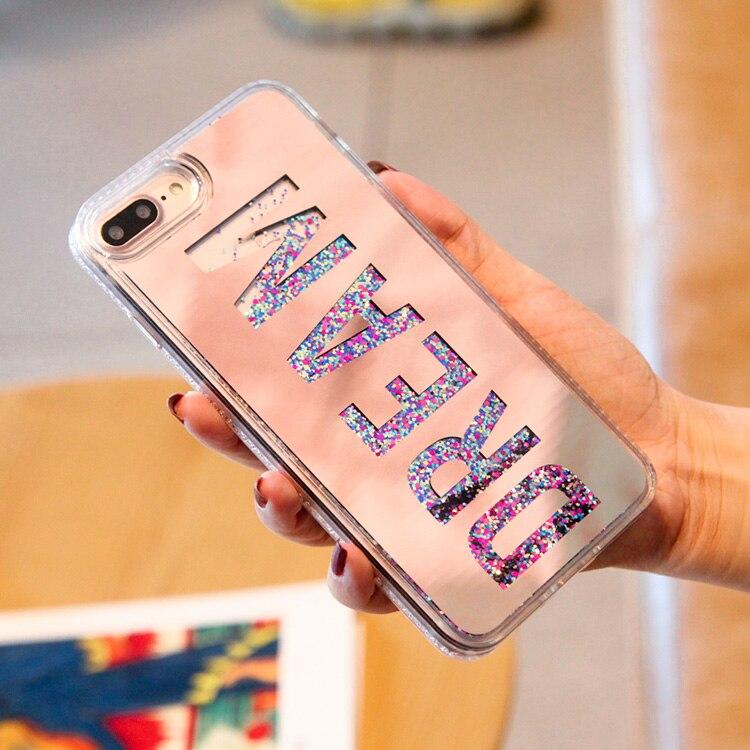 geekoplanet.com - Luxury Dream Mirror Quicksand Glitter Phone Cases