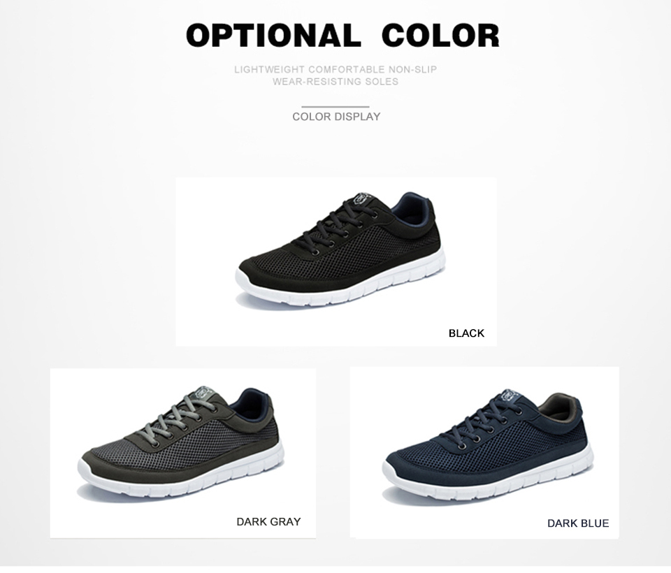Brand Shoes Men Casual Breathable Lace-Up Walking Footwear Lightweight Comfortable Mesh Sneakers Men Shoes Black Plus Size 49 50 6