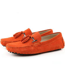 Classic Shoes Men Casual Shoes Summer Loafers Suede Leather Fashion Tassel Shoes Slip On Handmade Brand Flats Shoes Moccasins