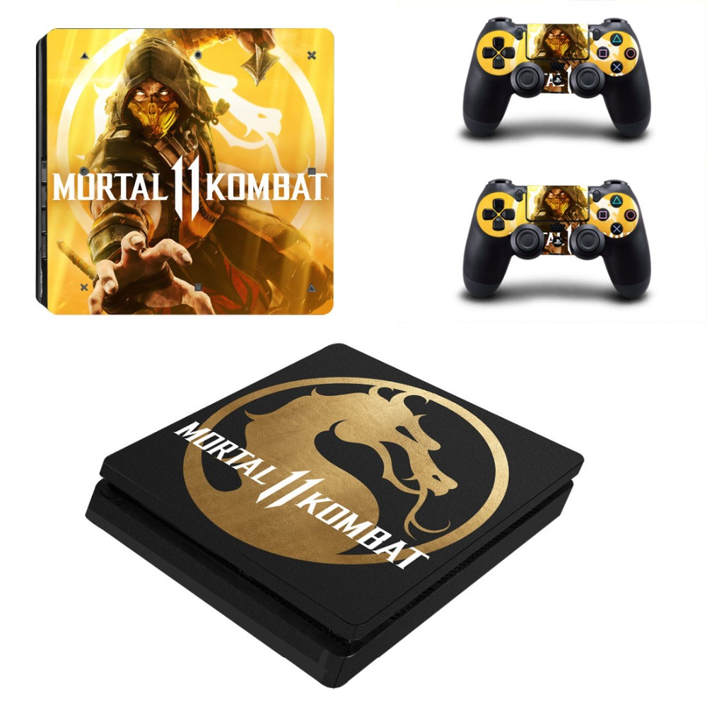 Mortal Kombat 11 PS4 Slim Stickers Skin For Sony PlayStation4 Slim PS 4 Slim Console and Controller Skins Vinilo Sticker image