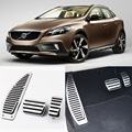 Brand New 3pcs Aluminium Non Slip Foot Rest Fuel Gas Brake Pedal Cover For Volvo V40 AT 2013-2017