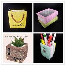 3D Book Box Car Bag Planter flowerpot Silicone Molds Creative Desktop Decoration Craft Cement Pot Pen Holder Mold for Concrete