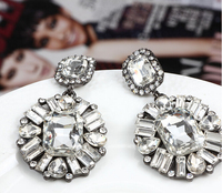 NANBO MX0268 Vintage Jewelry Exquisite Trendy Earrings Modern Beautiful Square Party Stud Earrings for Women