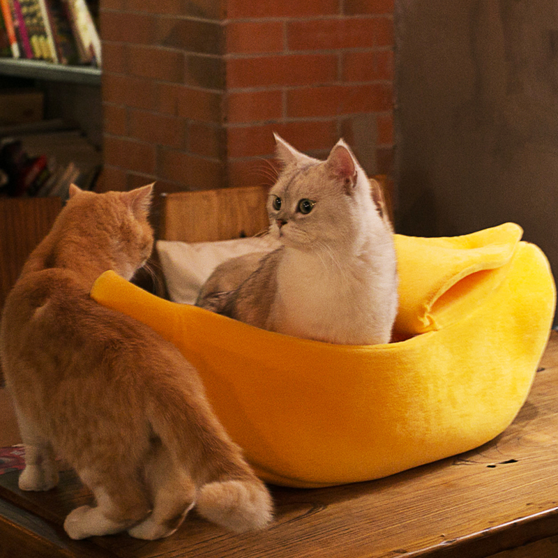 Banana Peel Cat-Kitten Bed