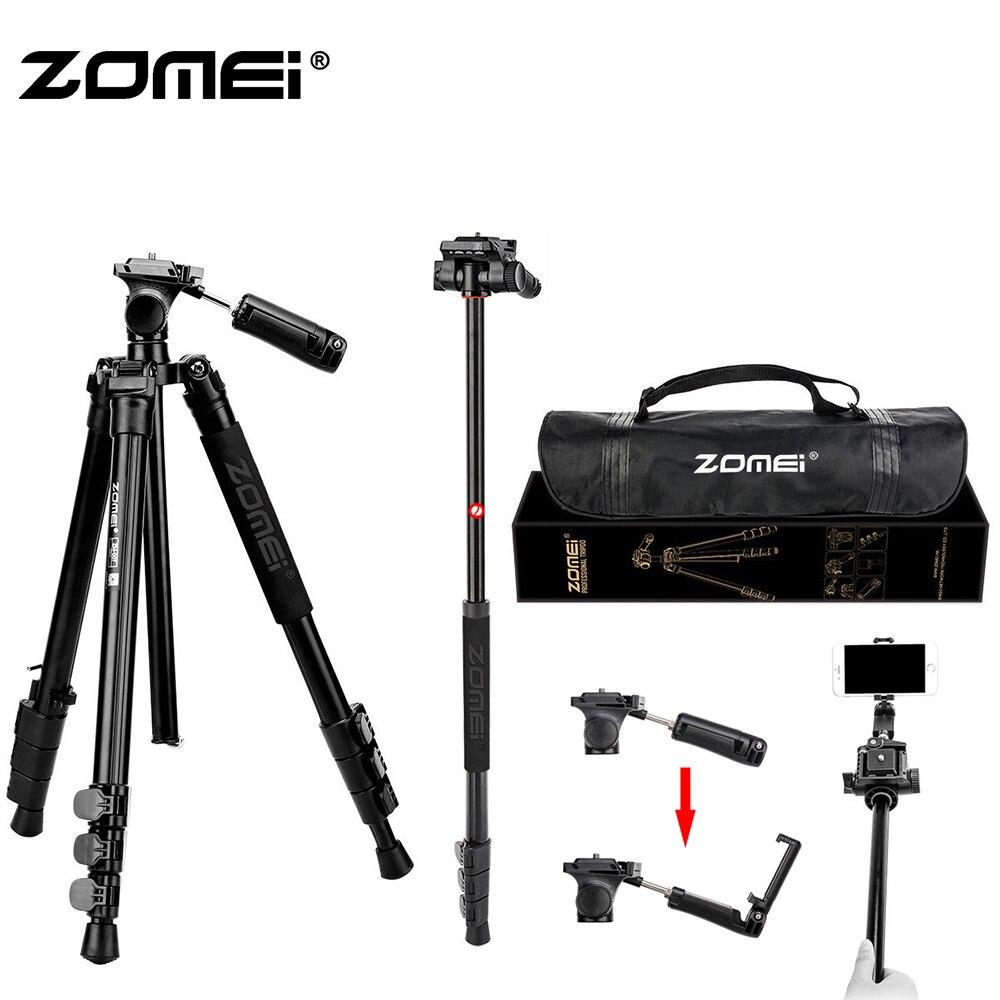 Zomei 58 pouces Profession poids léger voyage Portable pliable appareil photo reflex trépied et monopode trépied et Selfie bâtons à main cardan