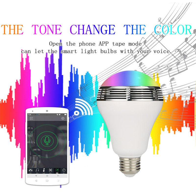Smart Bulb E27 LED RGB Light Wireless Music LED Lamp...