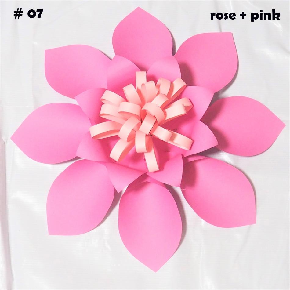Diy Wall Flowers: 40CM Cardstock Rose DIY Easy Giant Paper Flowers 4 Wedding