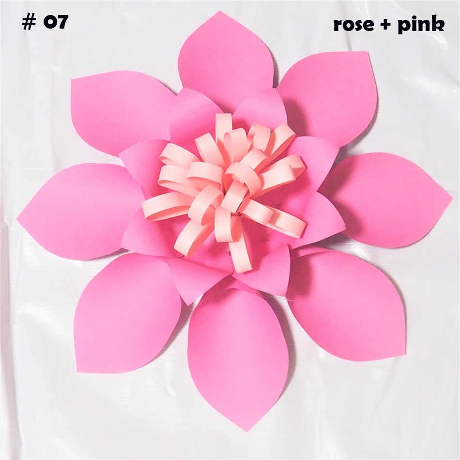 40cm Cardstock Rose Diy Easy Giant Paper Flowers 4 Wedding Backdrops Decorations Nursery Wall Decor Teachers Flower Tutorials