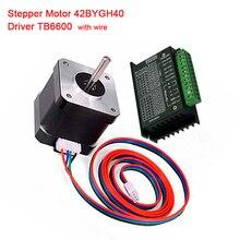 Nema 23 Stepper Motor 57BYGH56 57 motor 3.0A with TB6600 stepper motor driver NEMA17 23 for CNC Wood router 3D printer 57 stepper motor stepper motor 57bygh56 401a 1 2n two phase hybrid