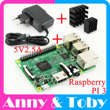 Raspberry Pi 3 Model B Board Heat Sink Power Adapter AC Power Supply.Rasp PI3 B,PI 3 B,PI 3B.1GB LPDDR2 Quad-Core WiFi&Bluetooth