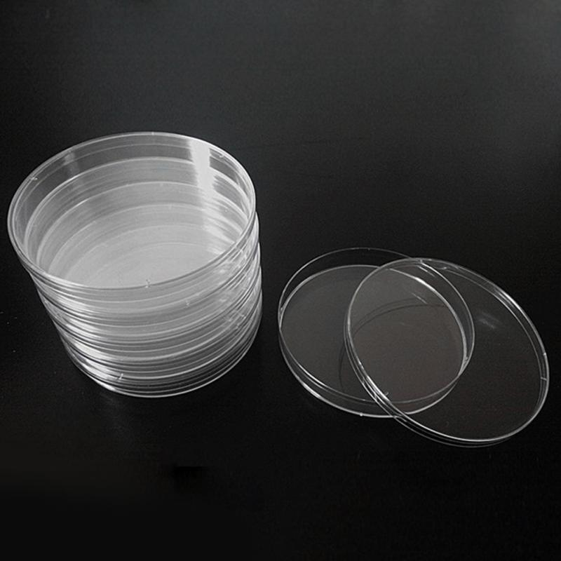 10pcs 55mm Laboratory Plastic Petri Dishes Affordable For Cell Clear Sterile Chemical Instrument Lab Supplies