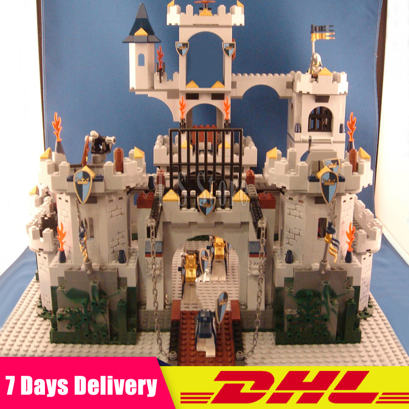 IN Stock 2018 DHL LEPIN 16017 1023Pcs The King`s Castle Siege Set Children Educational Building Blocks Bricks Toys Model dhl lepin 18032 2932 pcs the mountain cave my worlds model building kit blocks bricks children toys clone21137 in stock