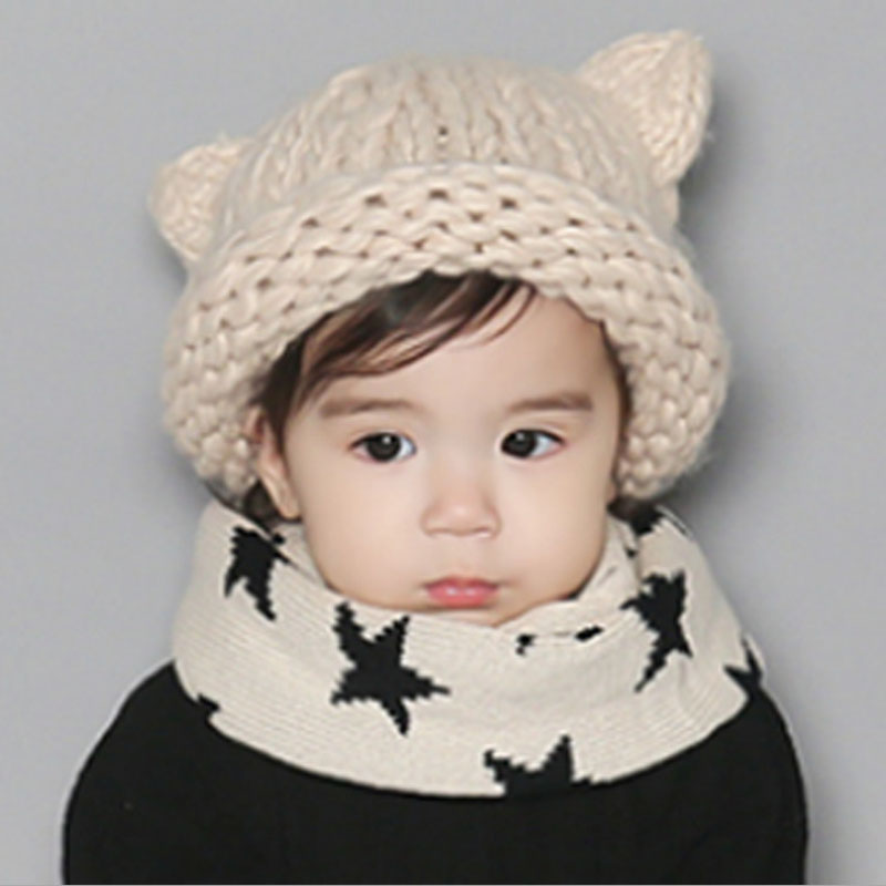 1 PC. 2016 new autumn winter Children Warmmer knitted cap Girl And Boy Candy Color Thick woolen hats more color