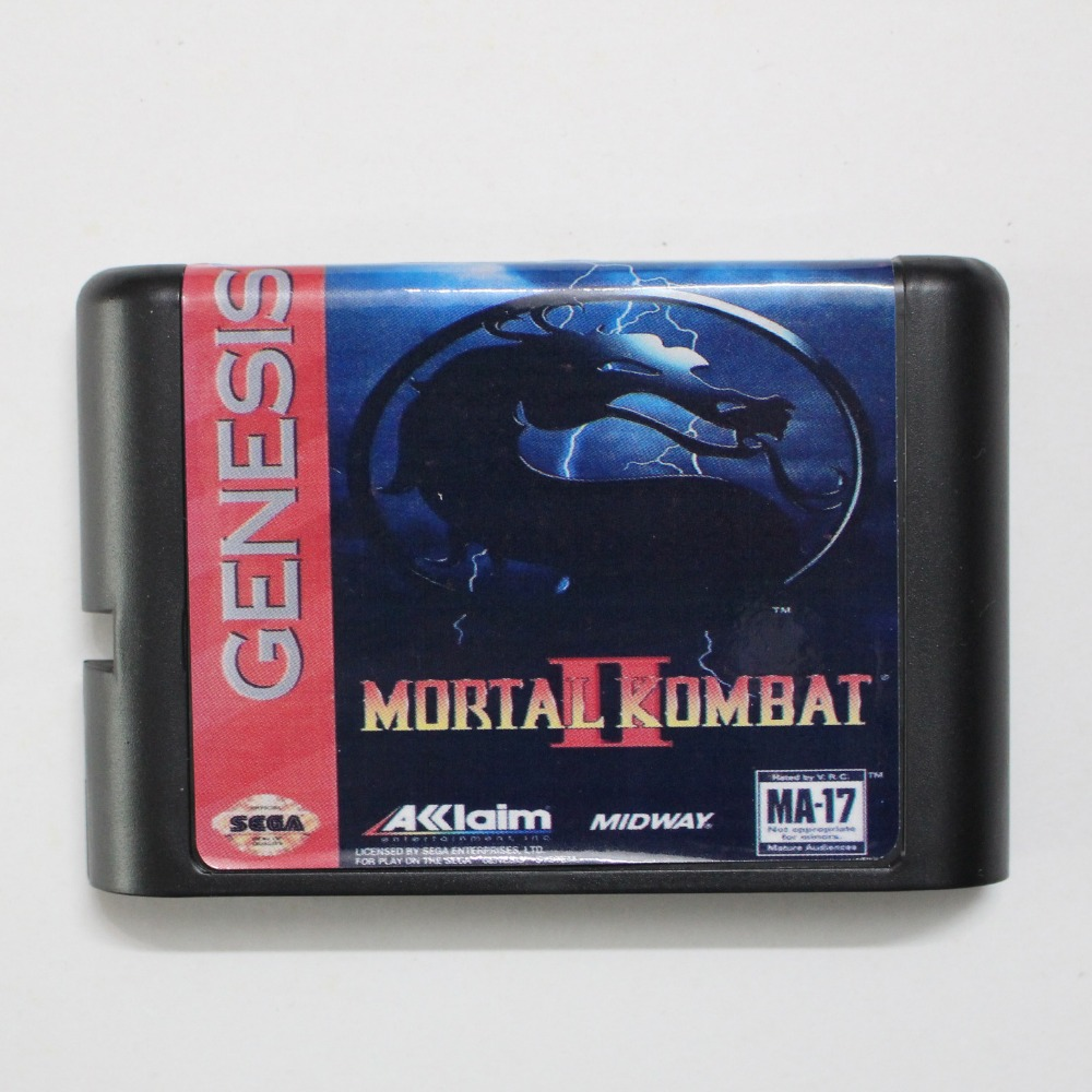 Mortal Kombat 2 16 bit MD Game Card For Sega Mega Drive For GenesisMortal Kombat 2 16 bit MD Game Card For Sega Mega Drive For Genesis