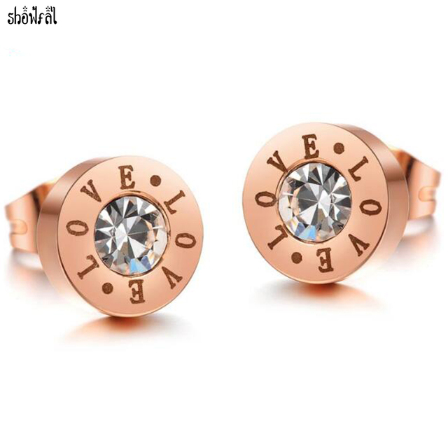 Boucle d'oreille ronde or rose