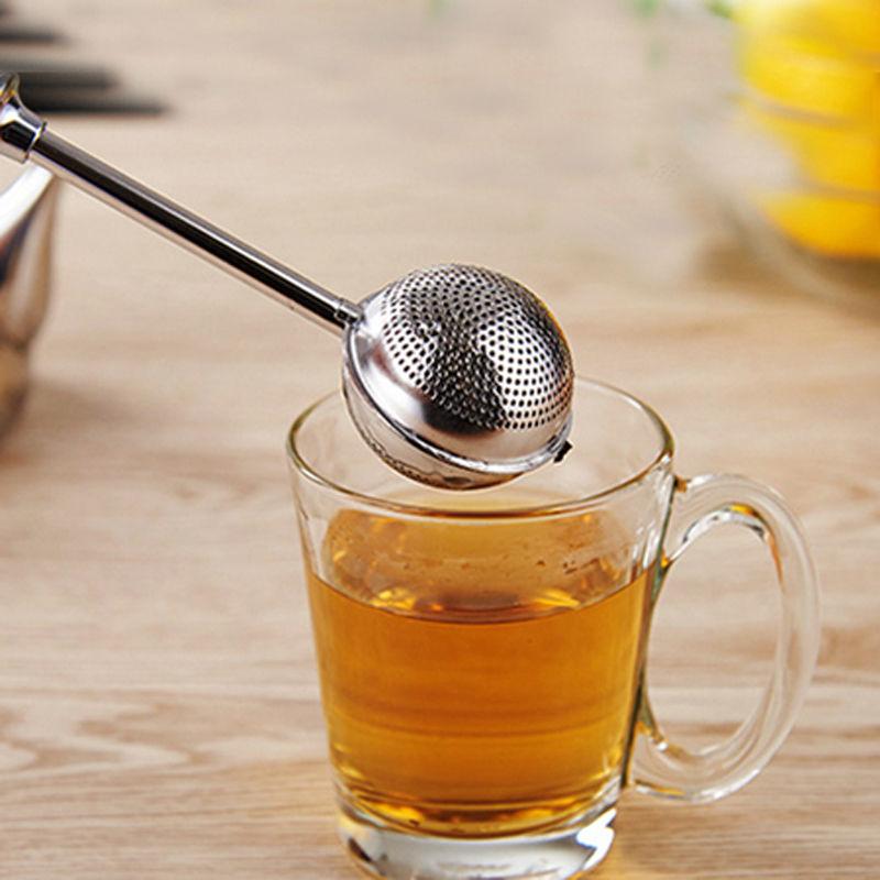 Premium Stainless Steel Tea Infuser Long Handle Tea Strainer Reusable Tea Ball Filter for Spice Herb Tea Accessories Drinkware (7)