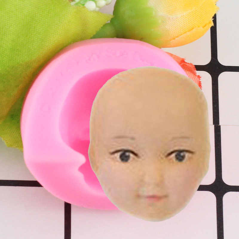 Baby Face Silicone Molds Chocolate Polymer Clay Craft Molds Handmade Craft Dolls Face Mould Sugar Craft Mould Baking Tools