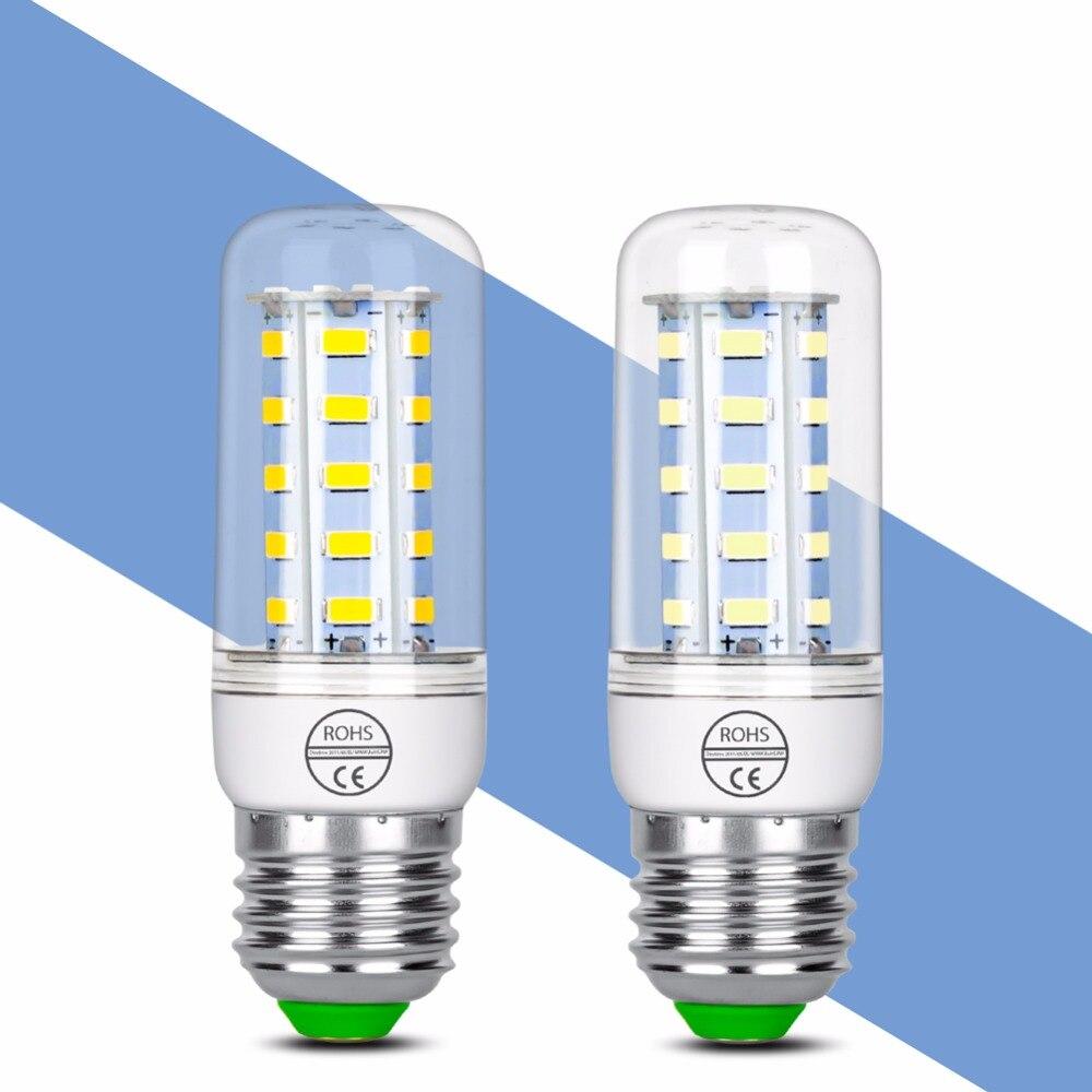 Lâmpada CONDUZIDA E27 E14 CONDUZIU a Lâmpada 220 v Energy saving LED Milho Bulbo 24 36 48 56 69 72 LEDS lampada LEVOU Luzes Para casa Iluminação SMD5730